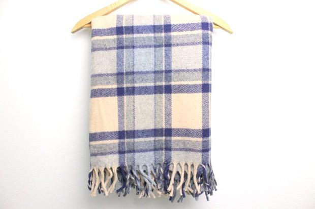 Vintage wool plaid throw, £38, Chummble Vintage at Etsy