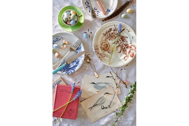 Rustic birds & botanicals ceramics