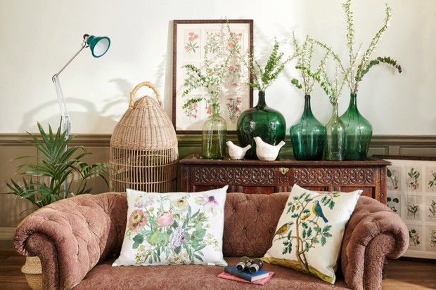 Rustic birds & botanicals Living room