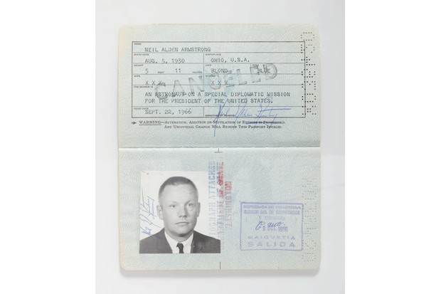 Neil Armstrong Diplomatic Passport, 1966