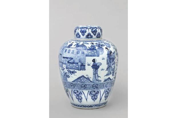 Chinese blue-and-white Kangxi 'Ladies' jar and cover, £POA, Anita Gray