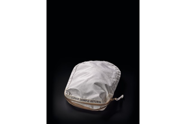 A bag used by Neil Armstrong to bring lunar samples back to earth