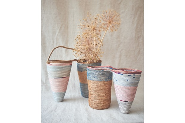 Jessica Geach's finished baskets