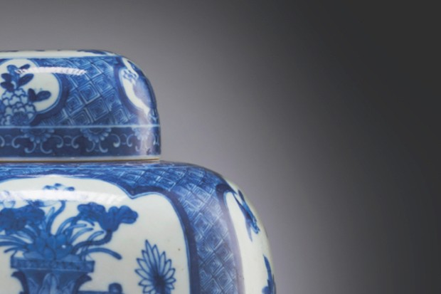 Blue and white Chinese Ginger Jar
