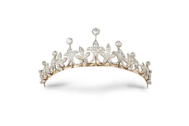 A late Victorian diamond tiara, worn by Lady Edith, circa 1890