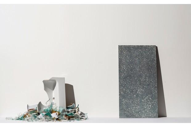 Broken ceramics, sanitaryware and glass