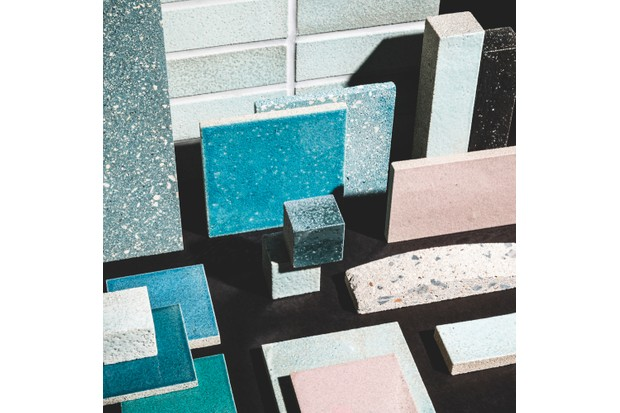 SilicaStone and Sequel tile samples by Alusid