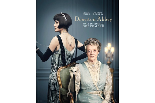 Maggie Smith and Michelle Dockery in costume as Mary & Violet for the Downton Abbey film