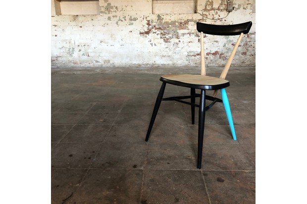 Pair of restored Ercol stacking chairs