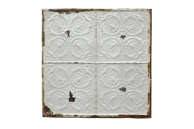 Salvaged tin tiles
