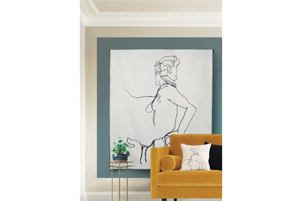 Woman throw by One Nine Eight Five, £165 – it can also be displayed as a wall hanging, as here