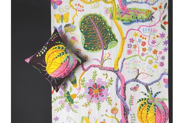 Josef Frank's Hawai print fabric with cushion