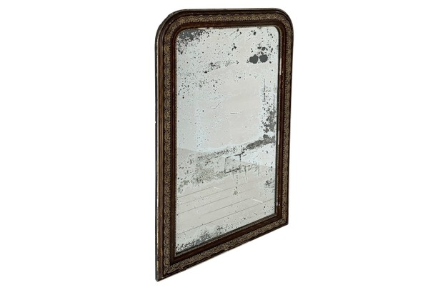 French 19th-century Louis Philippe gilt mirror