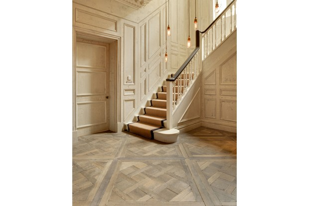 Versailles panel floor, from £234, The New & Reclaimed Flooring Company.