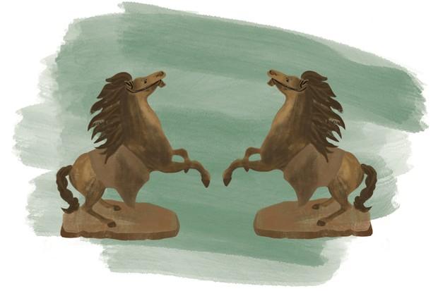 Bronze Horse Illustration by Becki Clark