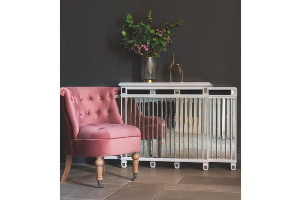 Antoinette mirrored radiator cover, £249.99, MY Furniture