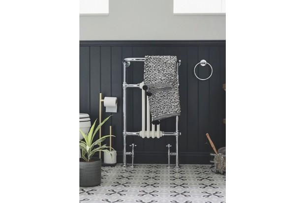 Bloomsbury chrome radiator and towel rail, £599, Burlington Bathrooms