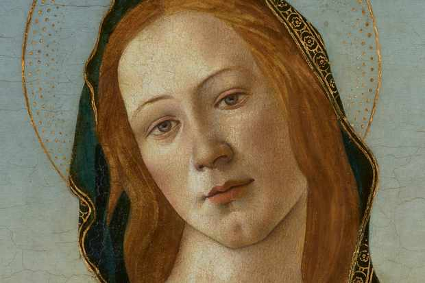 Cardiff Madonna Botticelli head detail