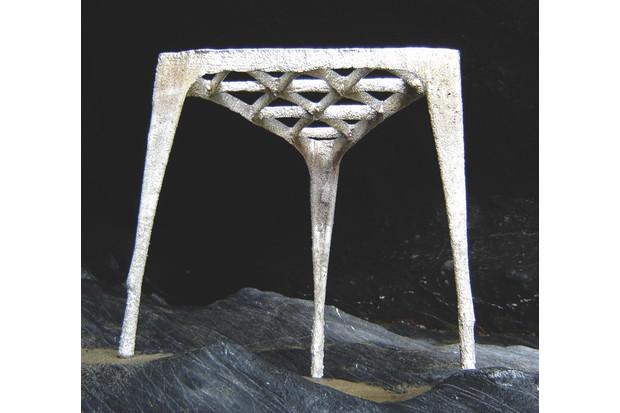 Max Lamb's sculptural triangular stool