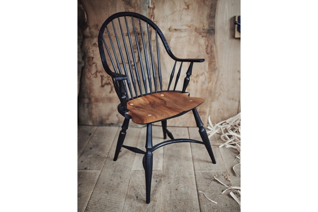 One of Jason's Windsor chairs
