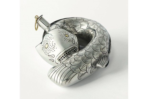 Svenskt Tenn's schnapps fish flask, €1,160