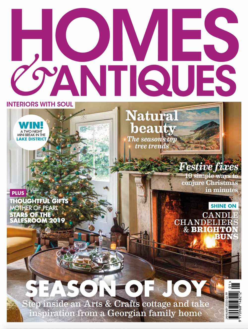 Homes & Antiques magazine January 2020