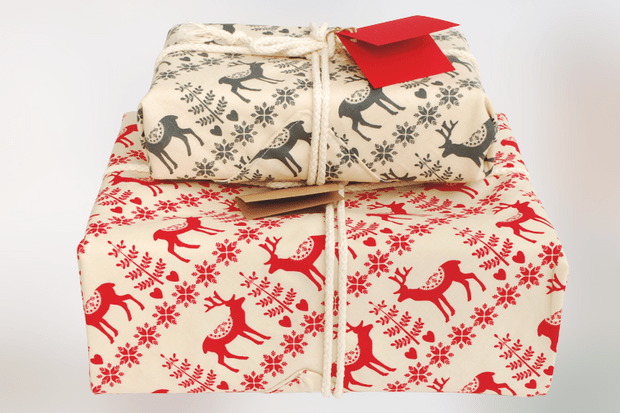 Reusable fabric gift wrap, £10, Wearth London.