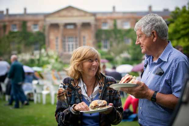 A couple enjoy Hillsborough Castle and Gardens Food Festival