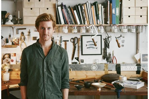 Samuel Waterhouse in his Sheffield-based workshop