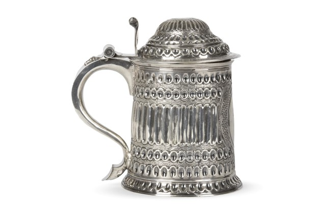 Queen Anne Silver Tankard Scottish Blane Crest London 1706