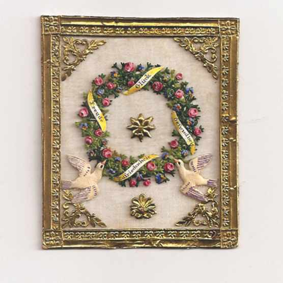 Intricate antique Valentine's card