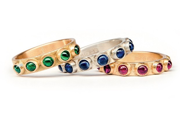 A collection of rings made by Samuel