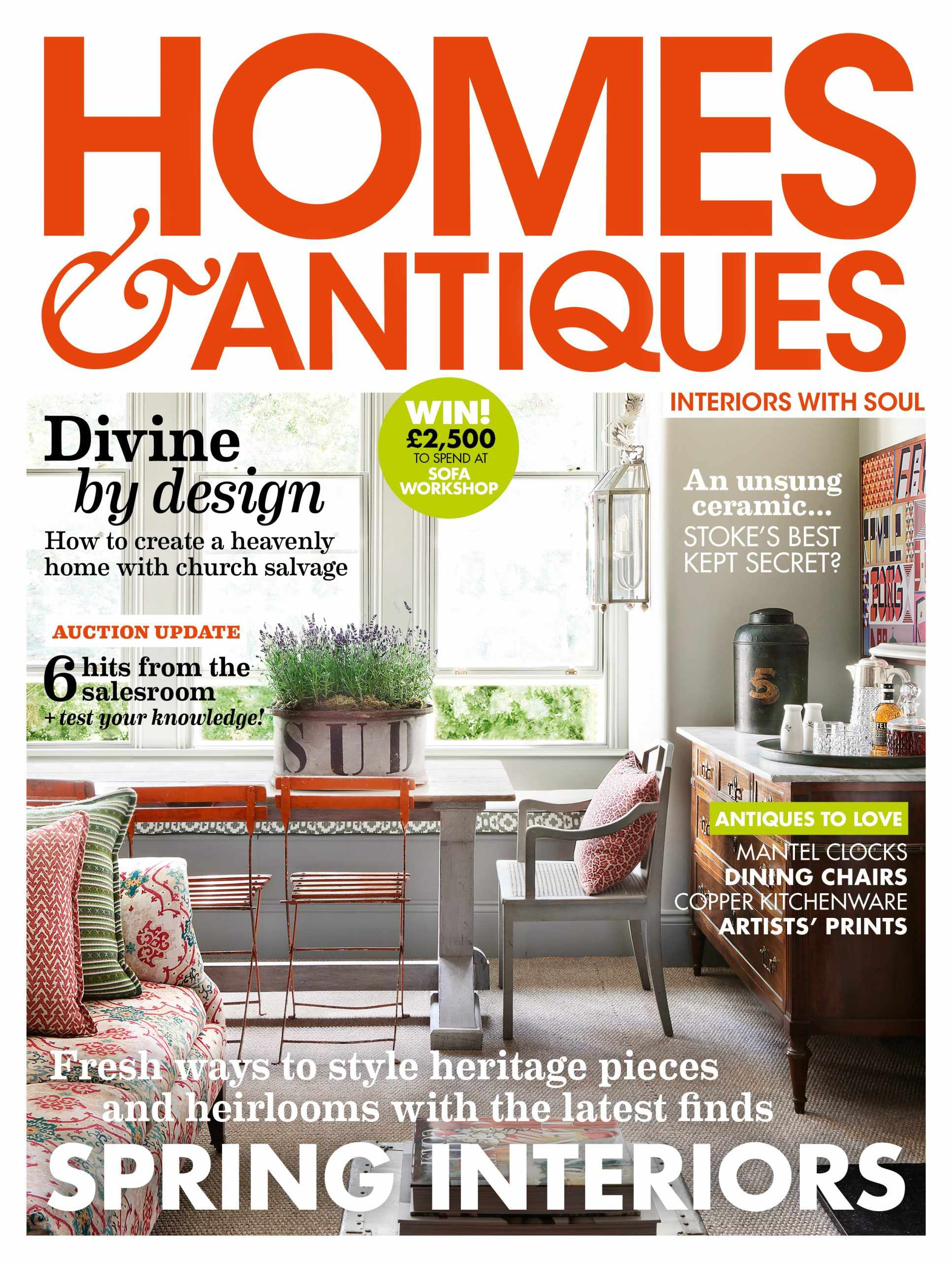 Homes & Antiques March 2020 cover