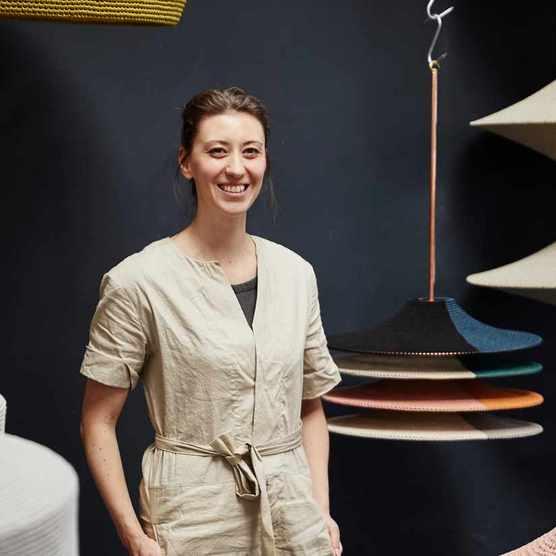 Lampshade designer Naomi Paul