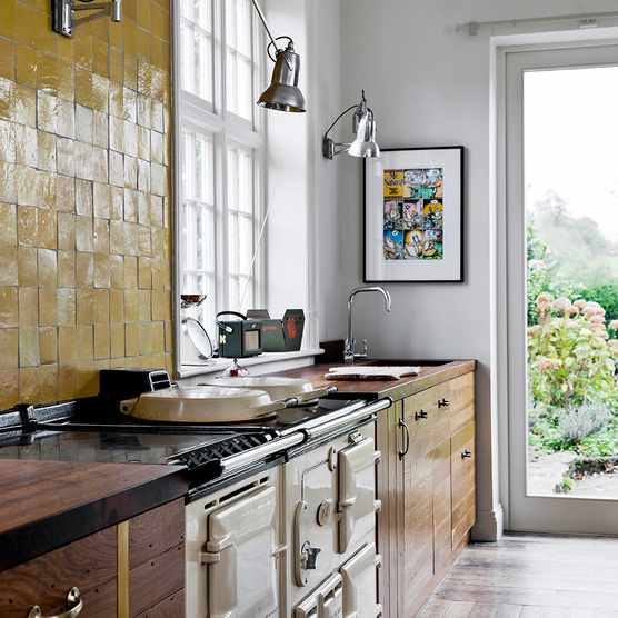 Retrouvius - The Old Rectory Kitchen with an Aga