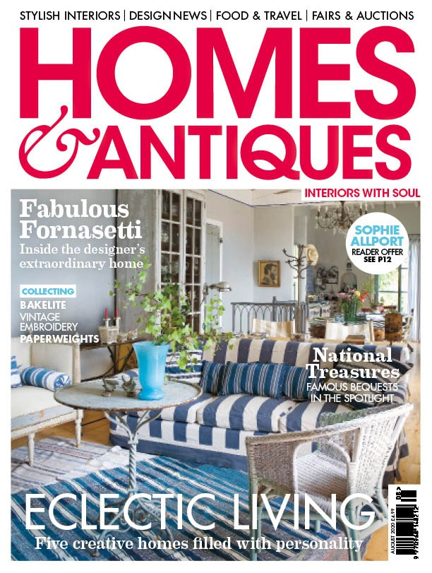 Homes & Antiques August 2020 cover