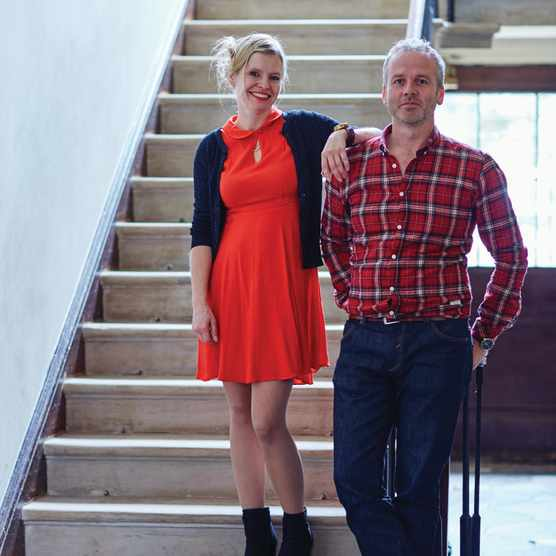 Jim and Chloe Read, founders of Newgate Clocks and Watches