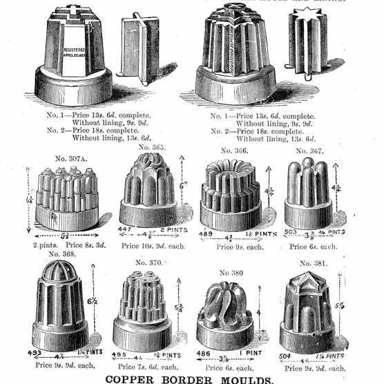 Jelly Moulds in Mrs Beeton's Book of Household Management
