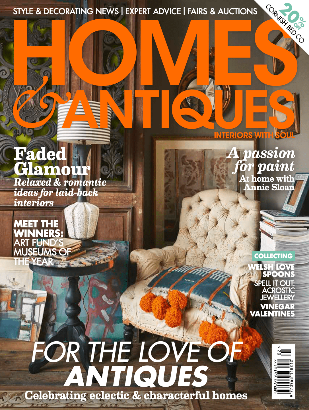 Homes & Antiques February 2021 cover