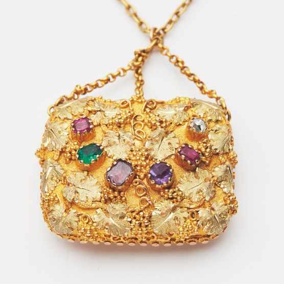 Multi-gem set pendant 'Regard' necklace sold for £2,500 at Lyon & Turnbull.