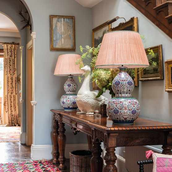 Pops of pattern and texture inject colour and character into a room and can be added by using antique ceramics and paintings as well as rugs, as in Penny Morrison's inviting hallway. Image: ©CreditMikeGarlickPhotography