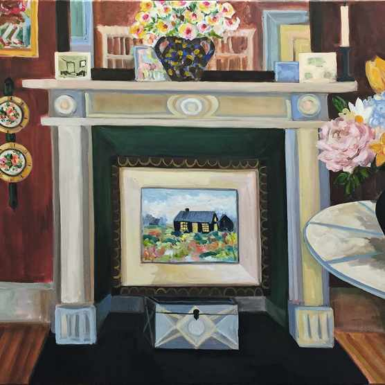 Lottie Cole (@lottiecole1) is drawn to mantelpieces. Watercolours start from around £1,250.