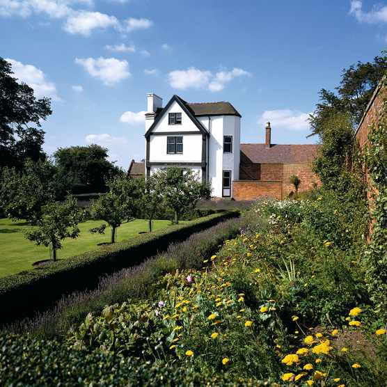 view of the rear of Boscobel House and garden. Picture courtesy English Heritage.