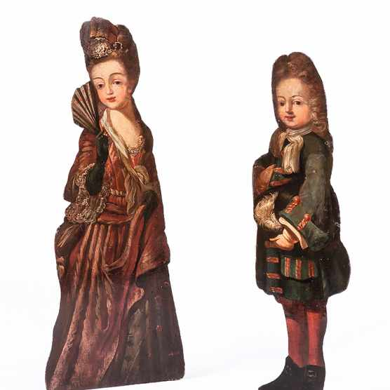 This pair of dummy boards c1720 is currently for sale at Wick Antiques for £6,850.