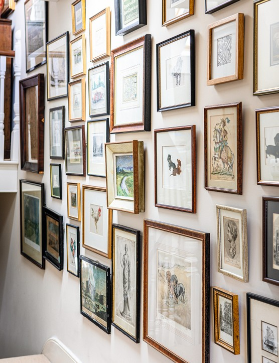 Victorian house gallery wall