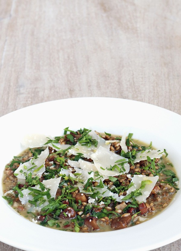 Spelt Risotto Recipe with Mushrooms