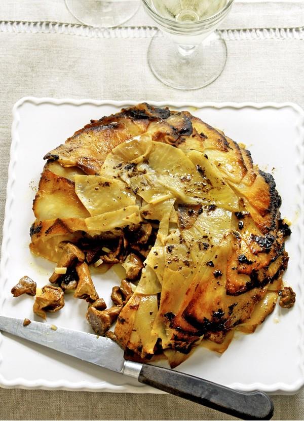 Baked Celeriac and Mushroom Torte Recipe