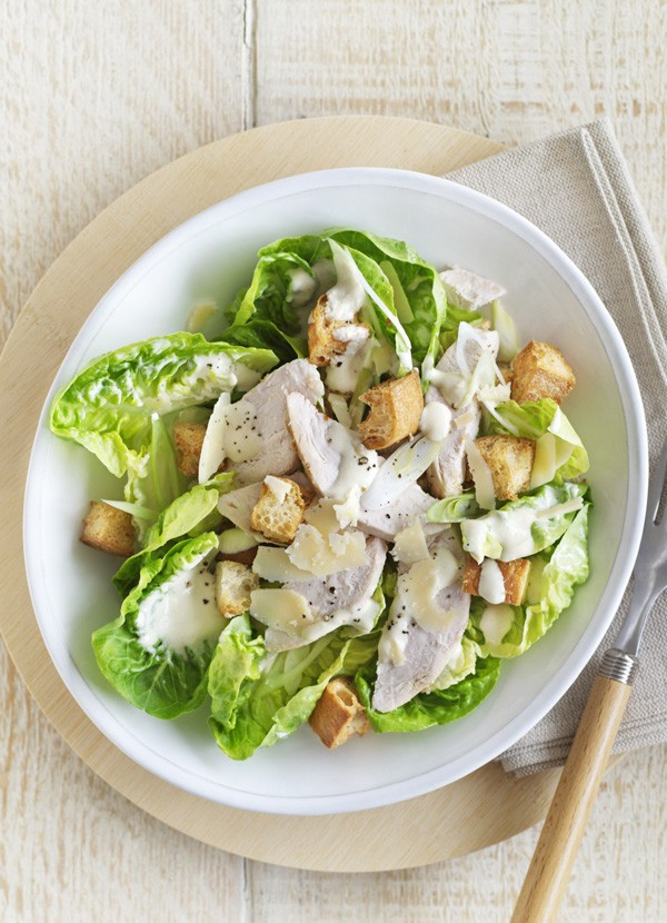 Healthy Chicken Caesar Salad Recipe