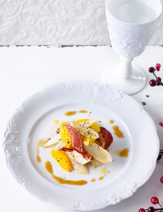 Lobster Salad Recipe With Salsify and Orange