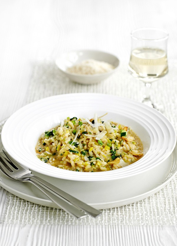 Vegetarian Risotto Recipe with Leeks